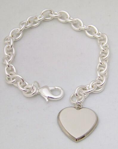 Personalized bracelet with charm tiffany style heart for New mom jewelry tiffany